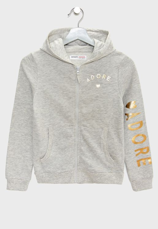 Teen Zip Through Hoodie