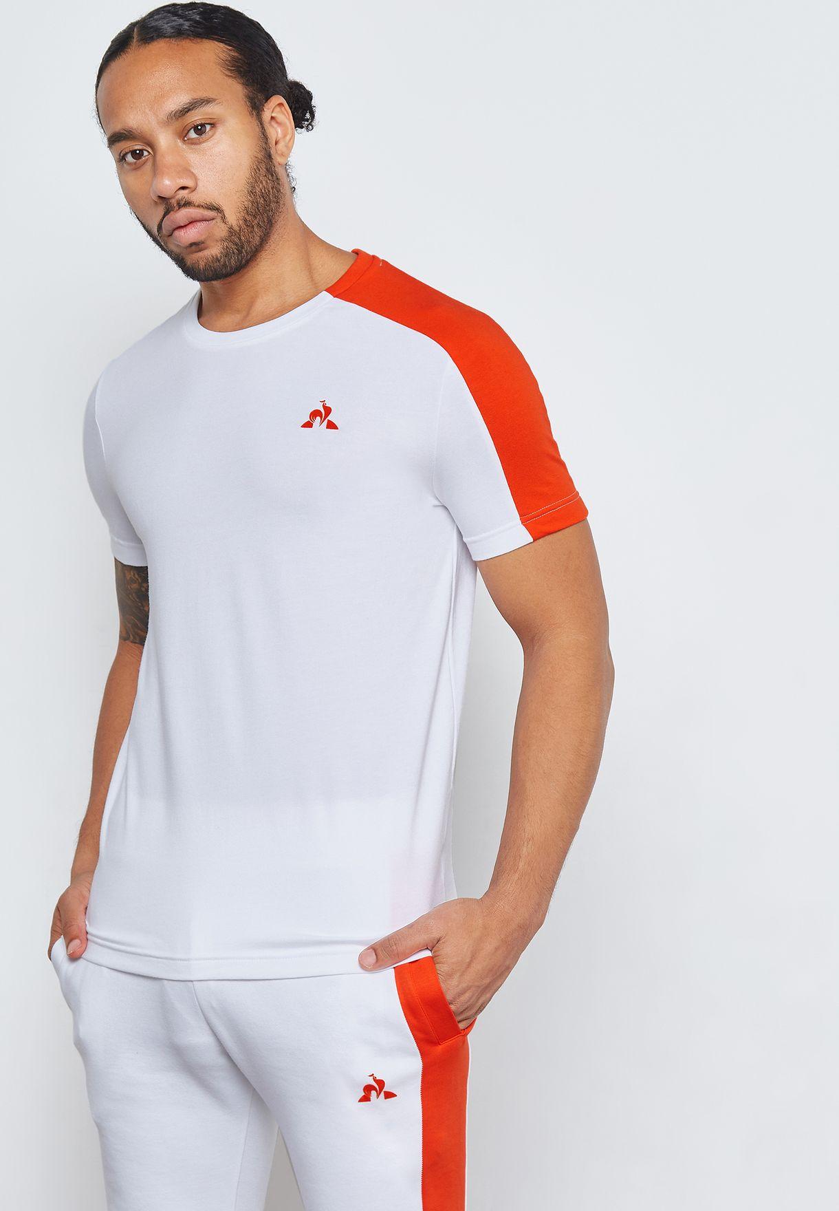 c88d020fa8 Shop Le Coq Sportif white Saison T-Shirt 1820042 for Men in Saudi ...