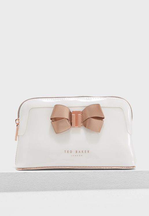 Bow Detail Makeup Bag