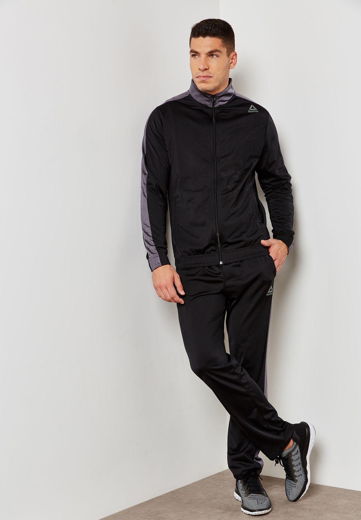d9f30bba3 Shop Reebok black Tricot Tracksuit D94276 for Men in UAE - RE019AT96YPR