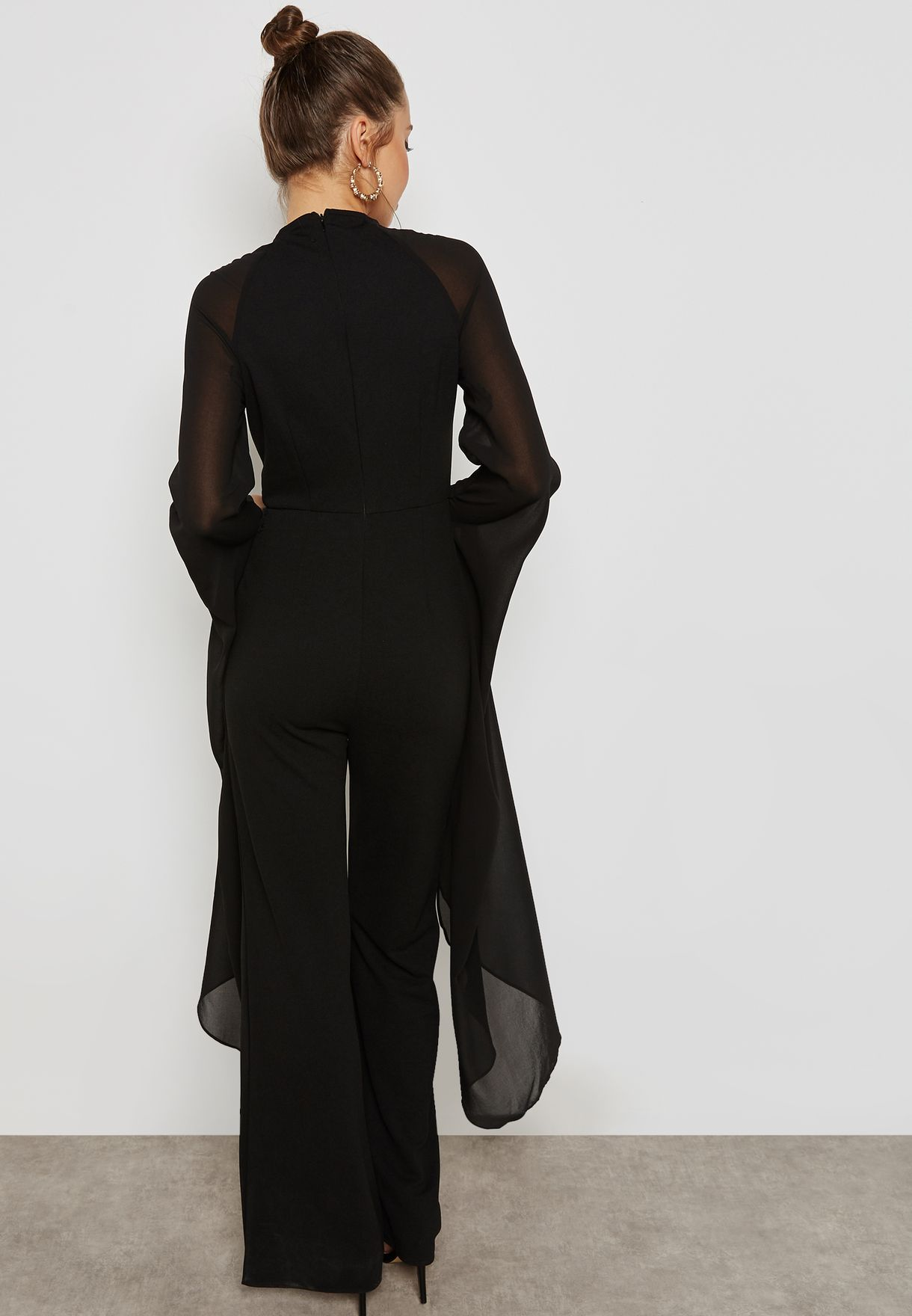 Wide Leg Long Sleeve Jumpsuit