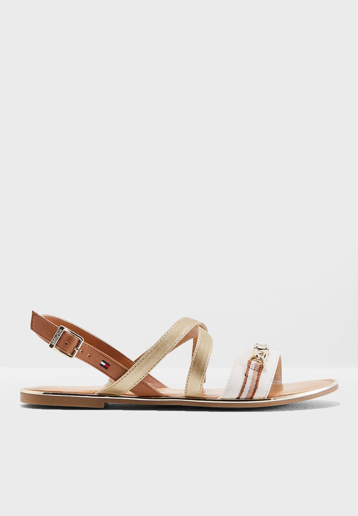 2173d22c665b5 Shop Tommy Hilfiger multicolor Hardware Flat Sandal FW0FW03596929 for Women  in Bahrain - TO279SH96KPF