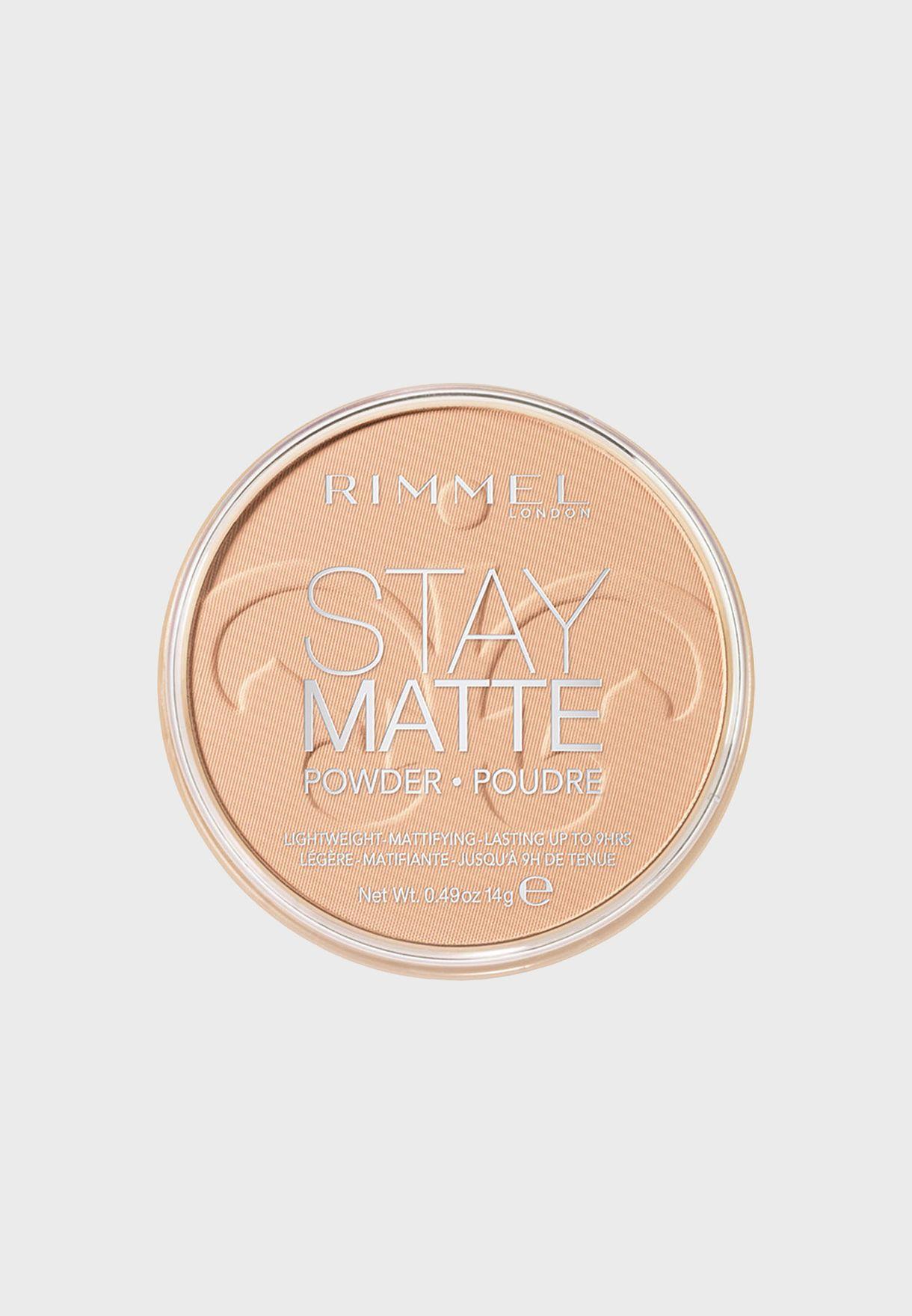 Shop Rimmel London Neutrals Stay Matte Pressed Powder 004 Sandstorm
