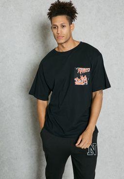 Boxy I'm The Party Pocket T-Shirt