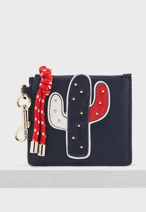 Cactus Card Holder + Charm