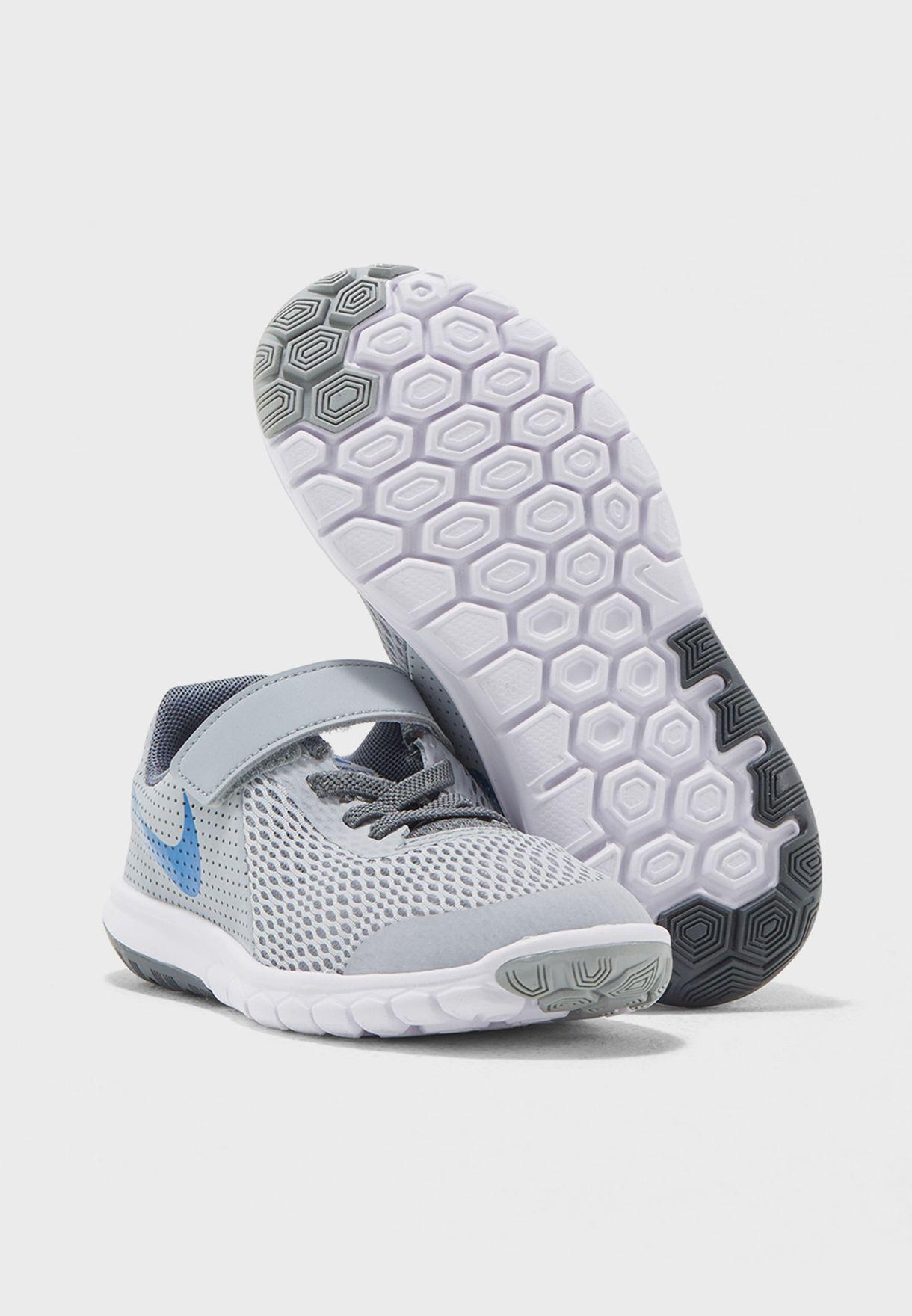64e11ae37ece5 Shop Nike grey Flex Experience 5 Kids 844996-011 for Kids in Saudi ...