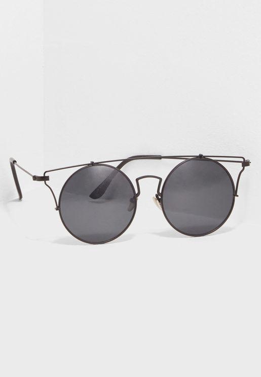 Hollow Frame Round Sunglasses