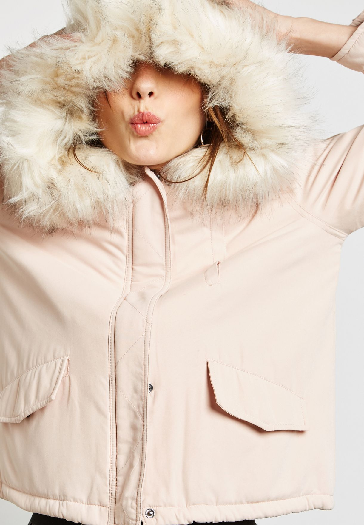 7fe8c70e7d3 Shop Only pink Faux Fur Jacket 15136161 for Women in UAE - ON544AT96PDR