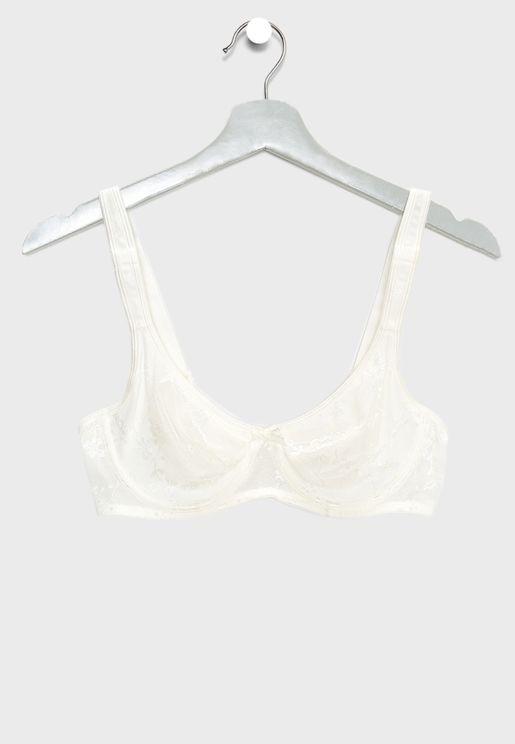 Lace Detail T-Shirt Bra