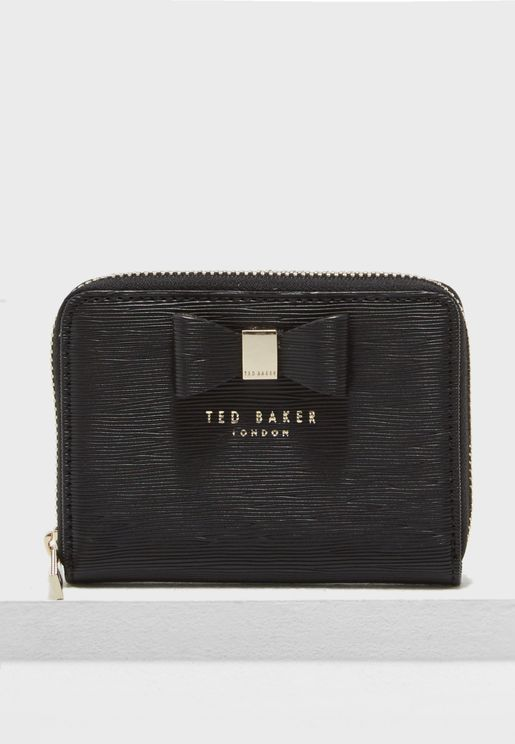 Aureole Textured Zip Purse