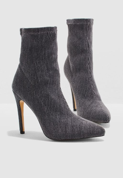 Corduroy Ankle Boot