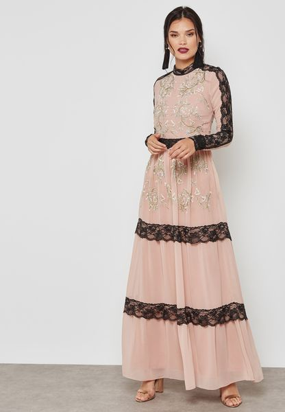 Lace Detail Maxi Dress