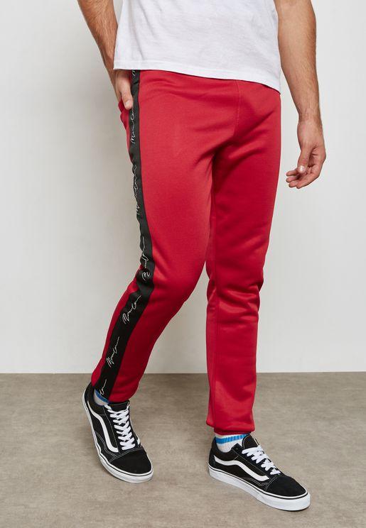 Red side stripe sweatpant