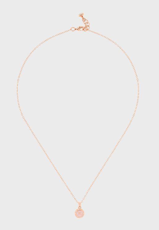 Elvina Enamel Button Pendant Necklace