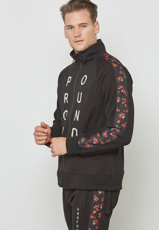 Zip-Up Track Suit Jacket