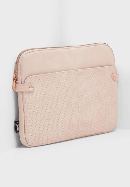 "13"" Blush Perforated Varsity Laptop Case"