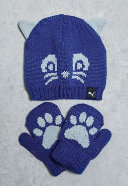 X Minicats Beanie + Gloves Set