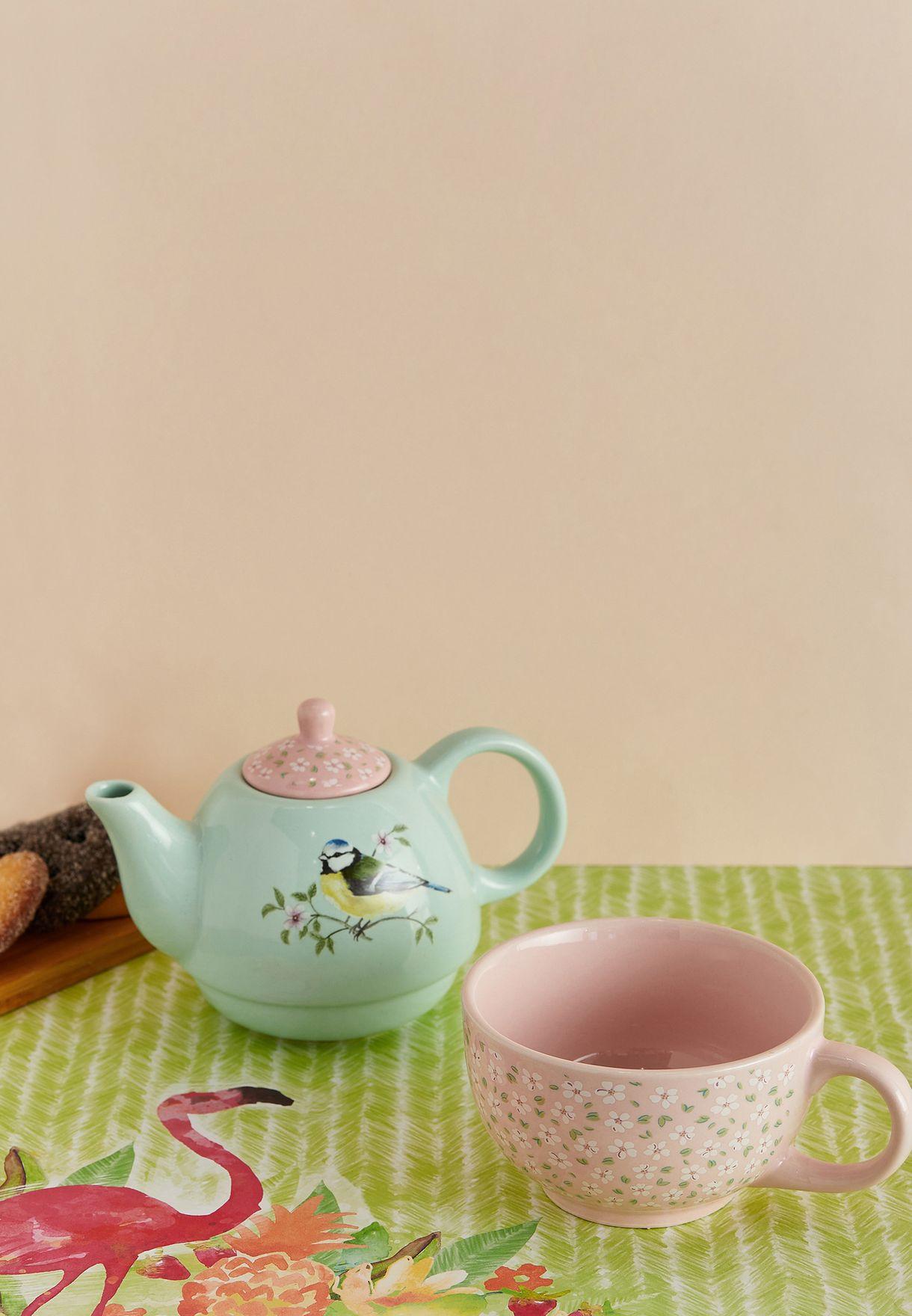 Garden Birds Tea Set For One