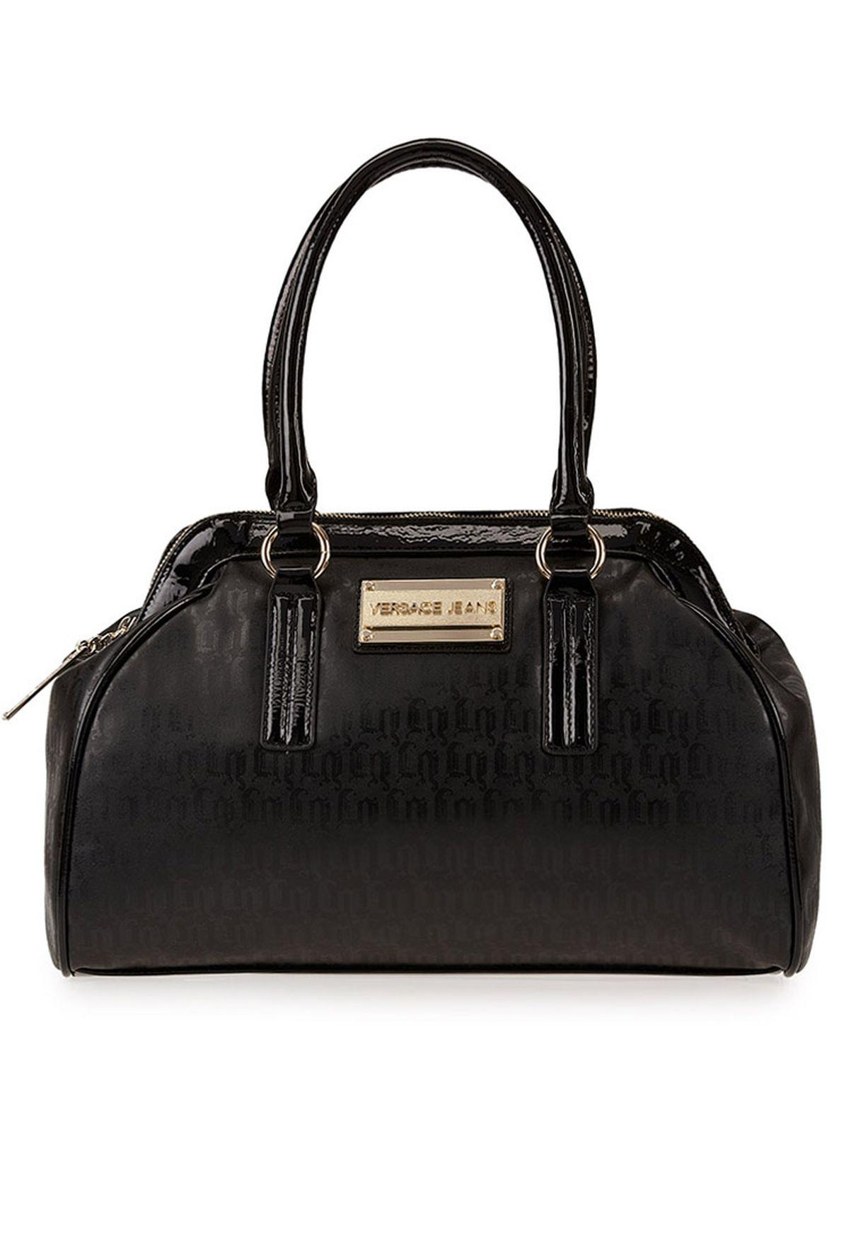 ef58572d6 تسوق حقيبة بيد قصيرة ماركة فرساتشي جينز كوتور لون أسود في السعودية ...