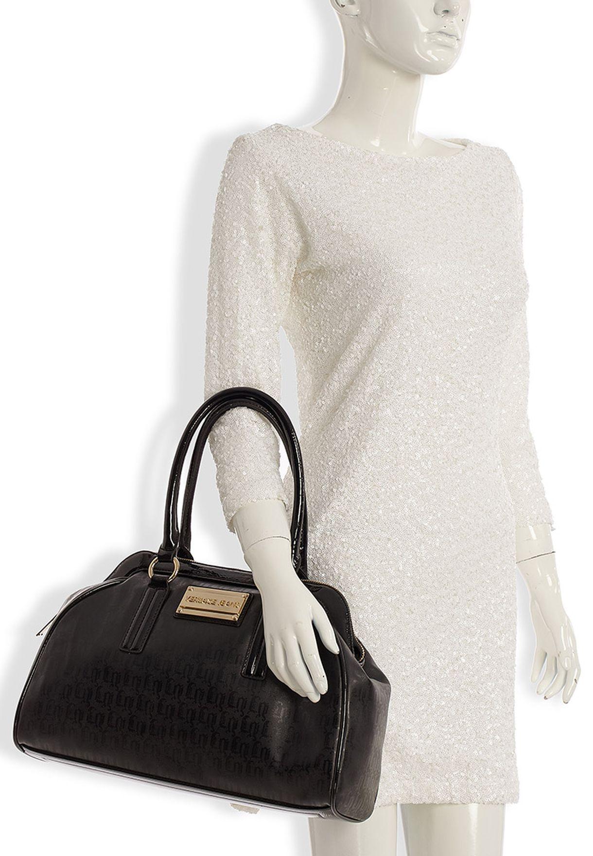 010d567bd8acf تسوق حقيبة بيد قصيرة ماركة فرساتشي جينز كوتور لون أسود في السعودية ...