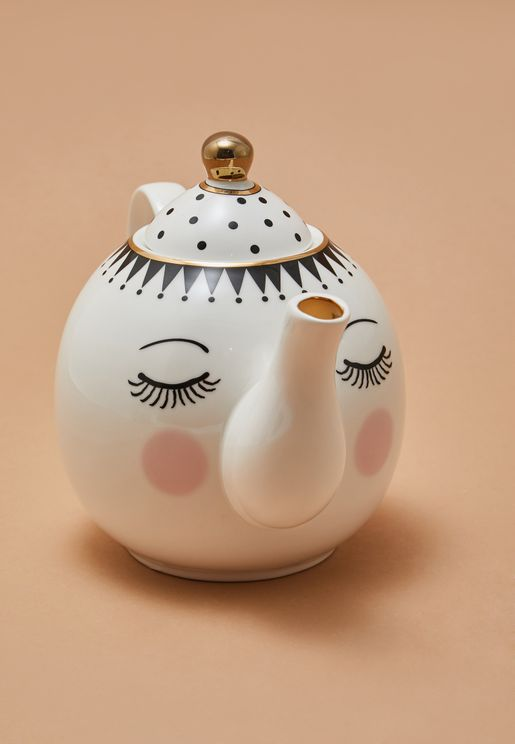 Eye And Dots Teapot