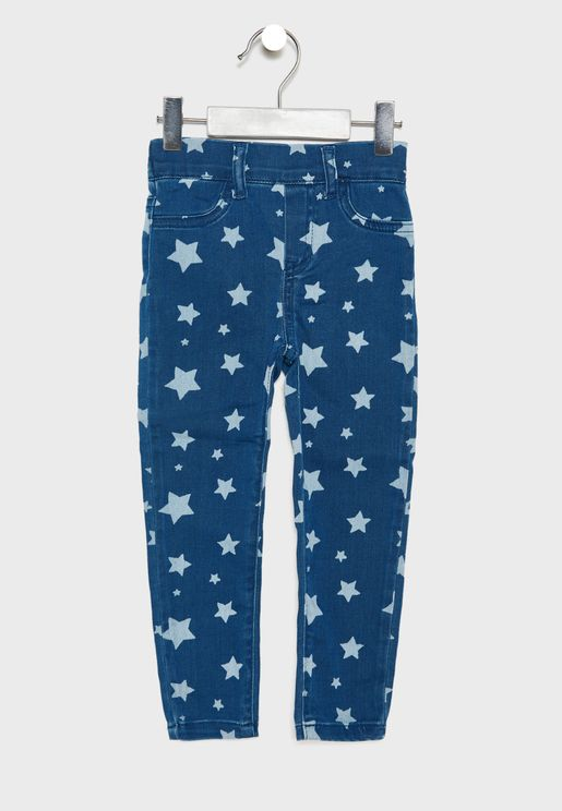 Little Star Print Jeans