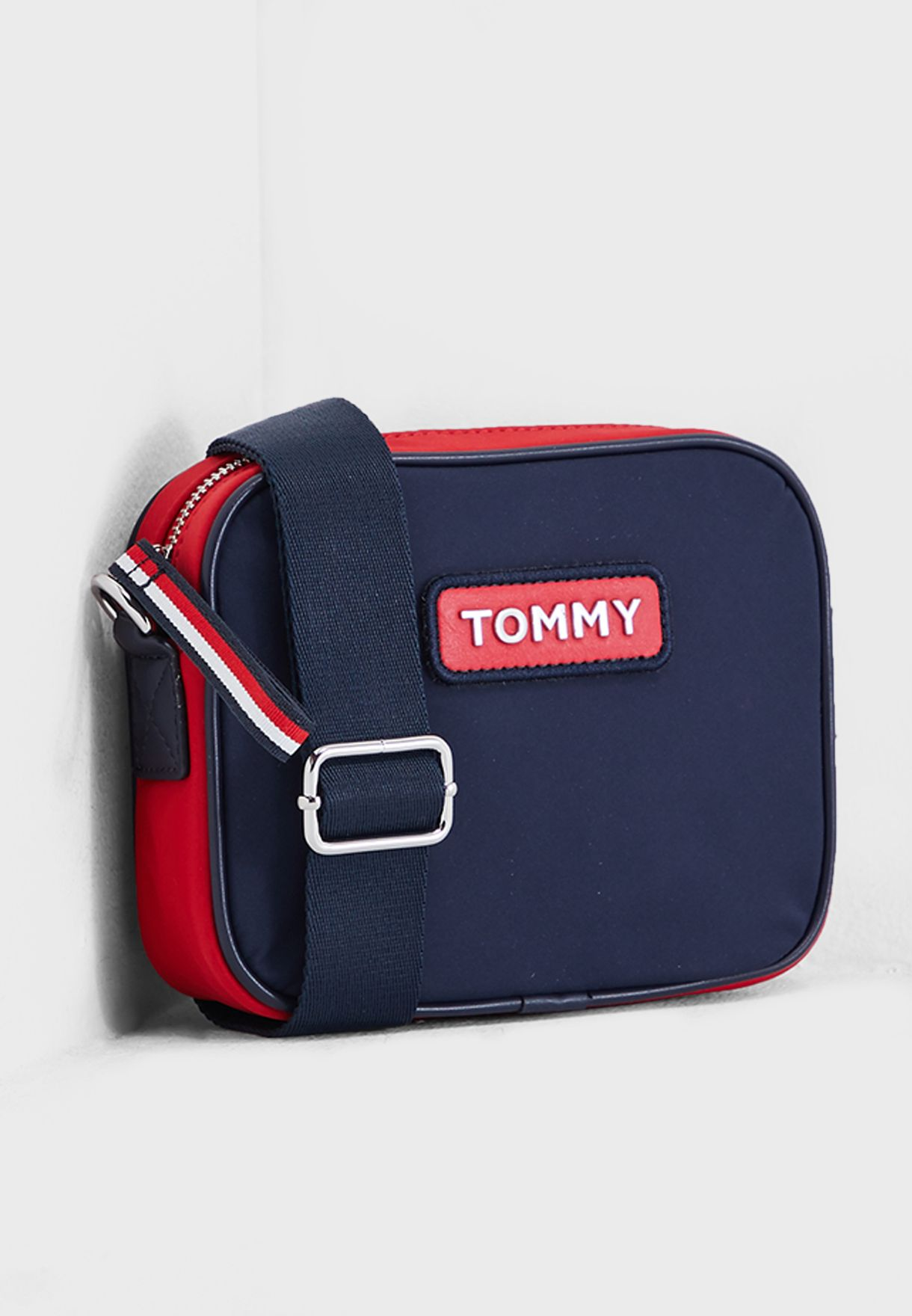 736225d2 Shop Tommy Hilfiger navy Varsity Crossover Bag AW0AW06296901 for ...