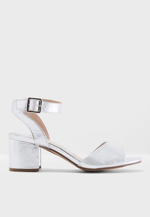 Wide Fit Sabrina Block Heel Sandals