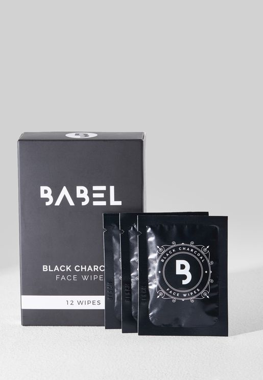 Black Charcoal Face Wipes 12pcs