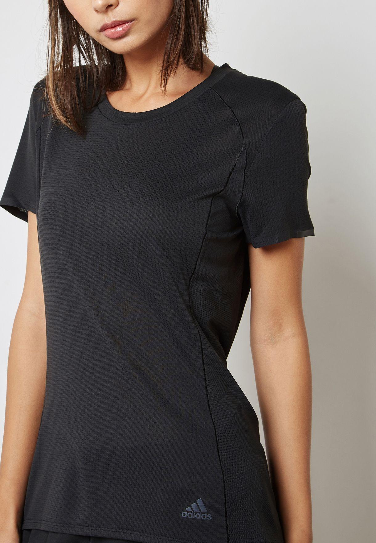 ac40866525e53 Shop adidas black Supernova T-Shirt CE0594 for Women in UAE ...