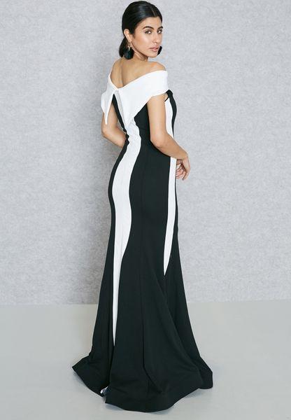 Colourblock Bardot Dress