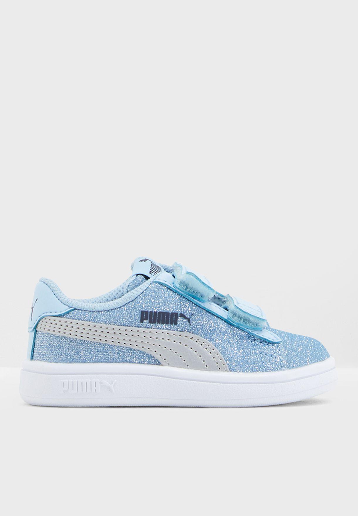 23d941e5ce7 Shop PUMA blue Infant Smash V2 Glitz Glam V 36738001 for Kids in Qatar -  PU020SH86CBL