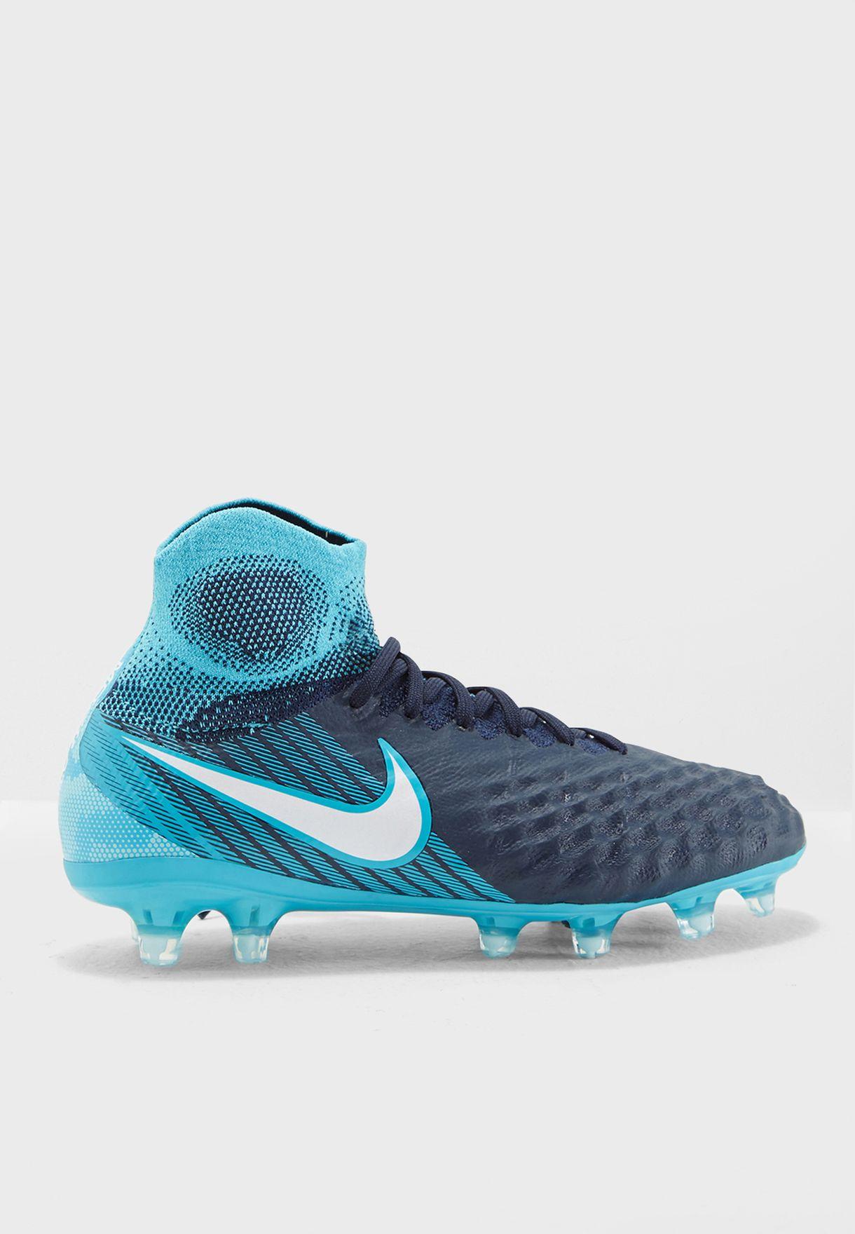 Shop Nike blue Magista Obra II FG 844410-414 for Kids in Qatar -  NI727SH86AKJ 9810fb3f18