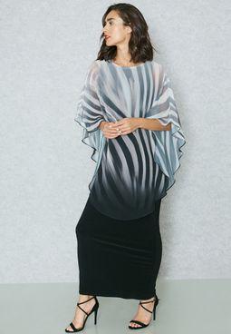 Ombre Print Maxi Dress