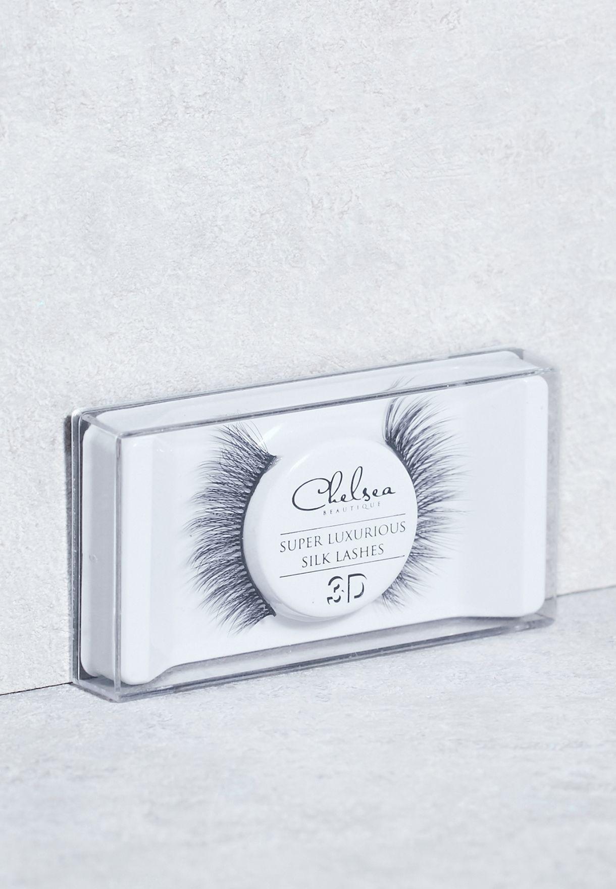 c4c2f3a4446 Shop Chelsea Beautique black Silk Strip Lashes - Elizabeth (3D) CL39 ...