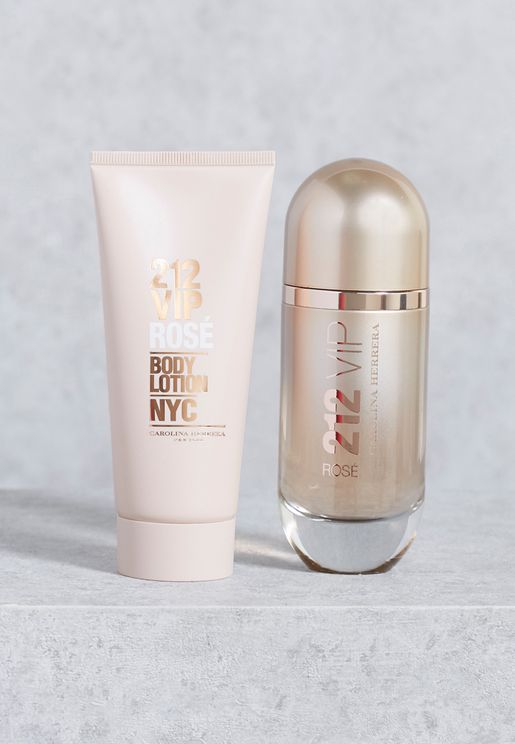 212 Vip Rose 80Ml Edp + 100Ml Bl