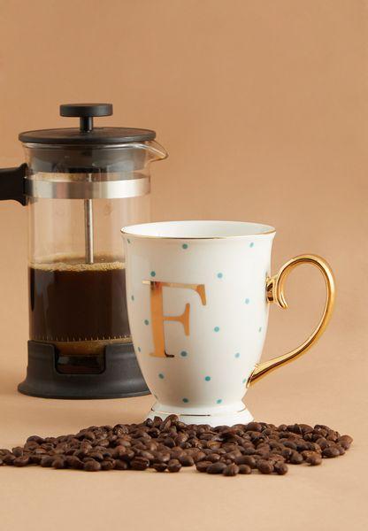 F Alphabet Spotty Mug