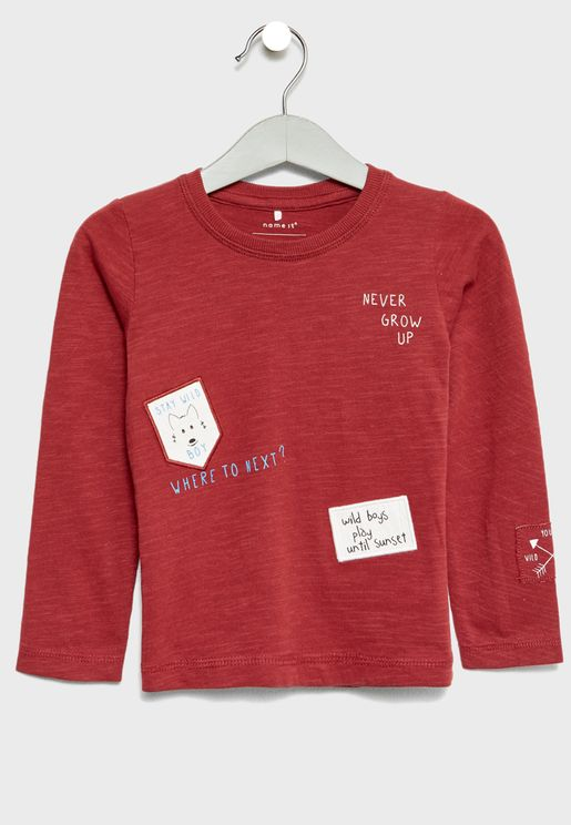 Infant Organic Cotton Patched T-Shirt