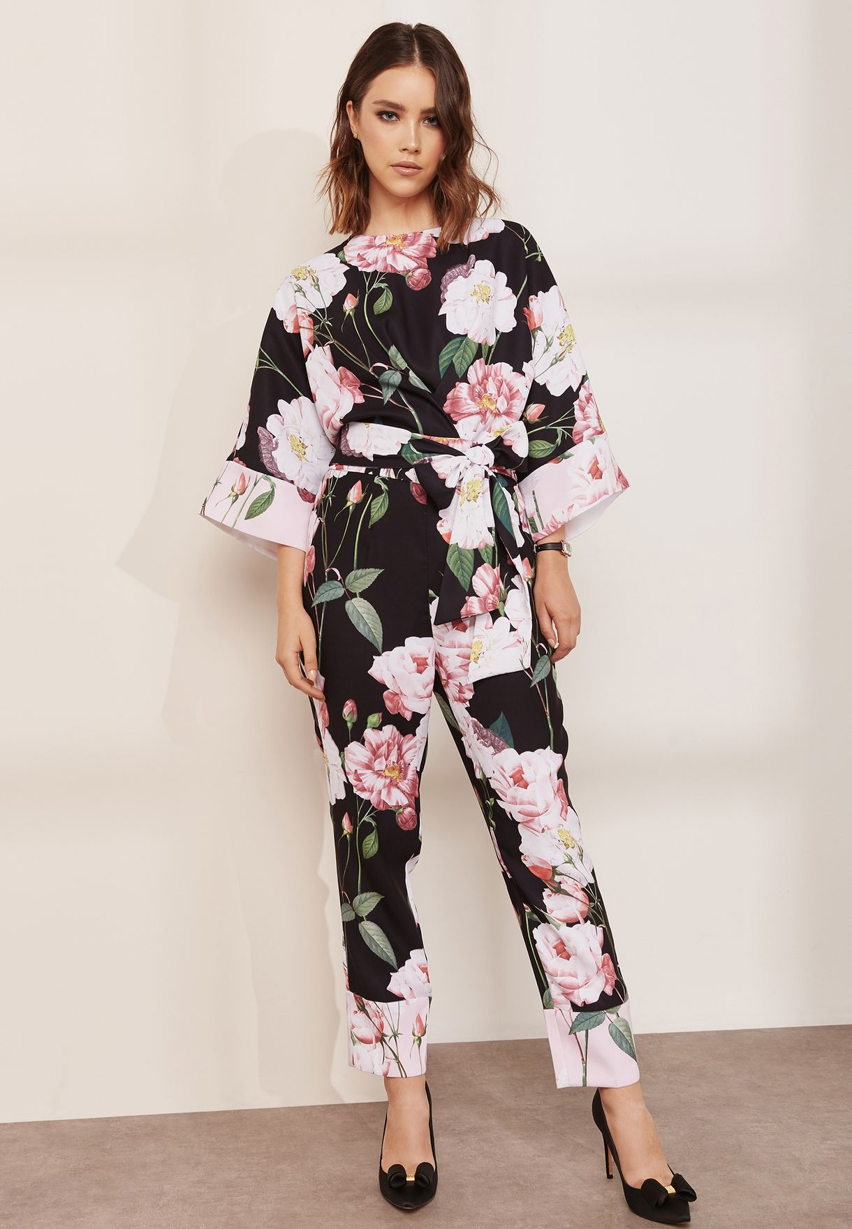 ee0adca6411 Shop Ted baker prints Floral Printed Jumpsuit 147758 for Women in ...
