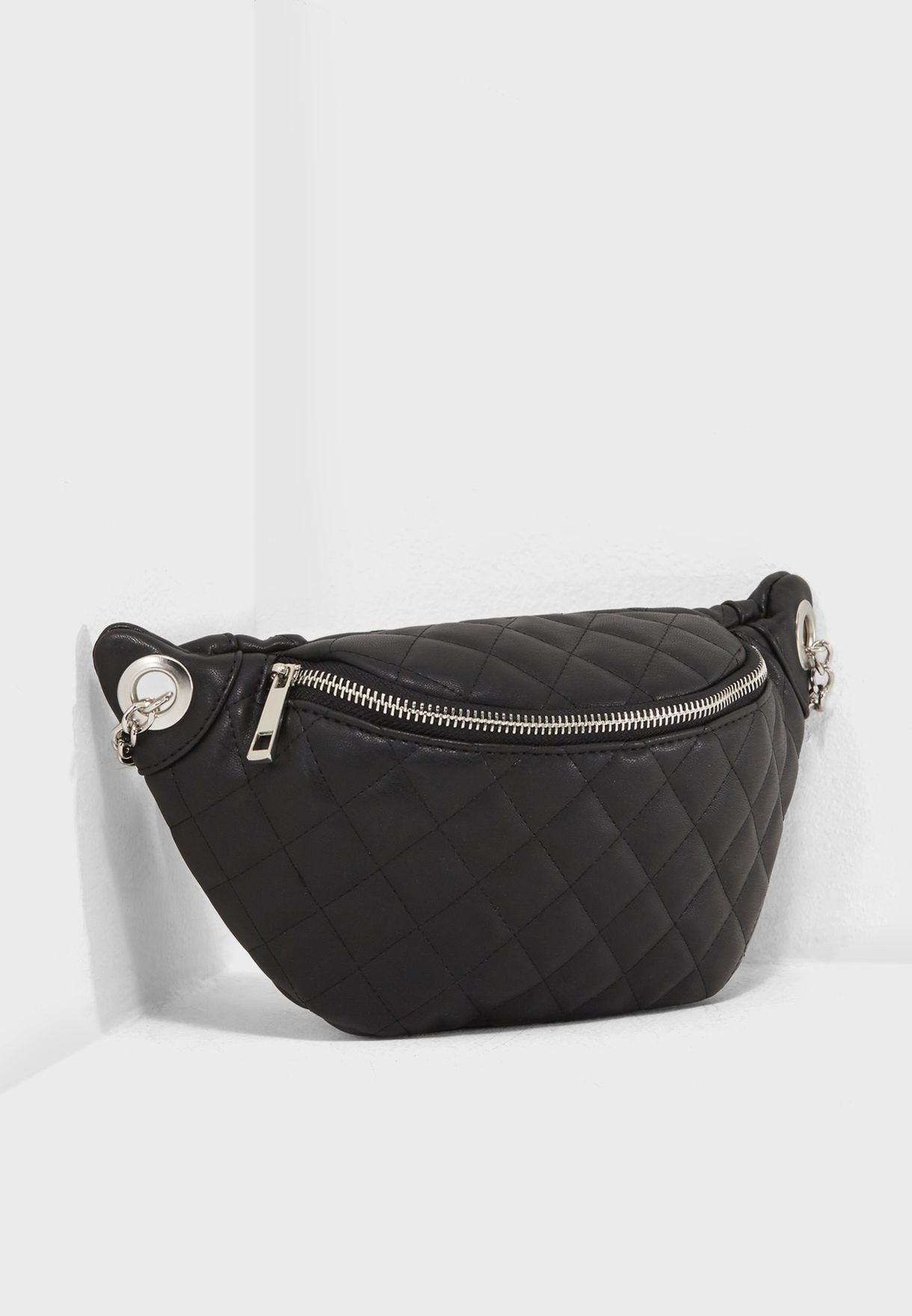 f1f69d2c9b06d6 Shop Forever 21 black Quilted Fanny Pack 269850 for Women in Bahrain ...