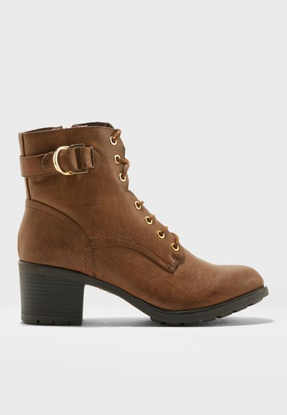 Monika Buckle Ankle Boots
