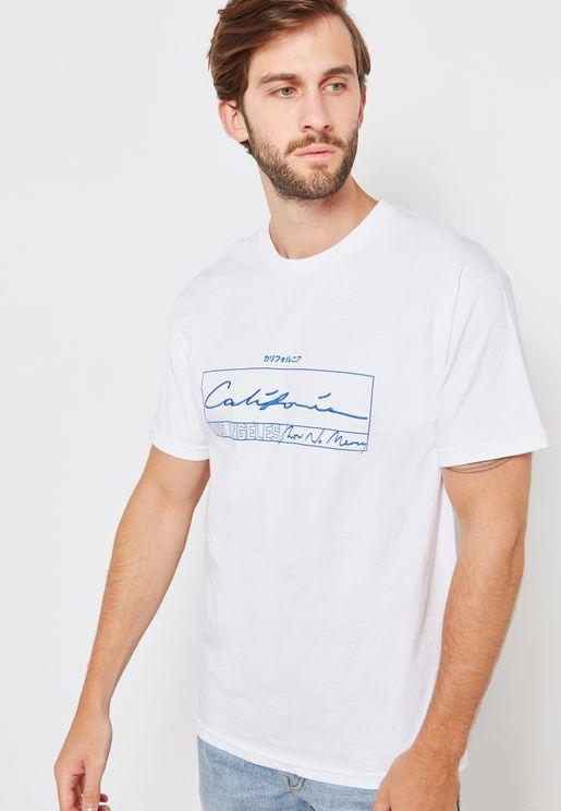 White California Crew Neck T-Shirt