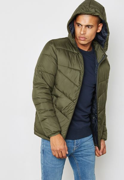 Bpr Quilted Hoodied Jacket