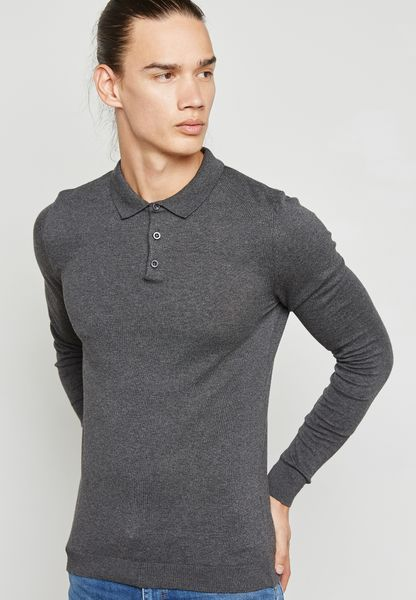 Knitted Polo Sweater