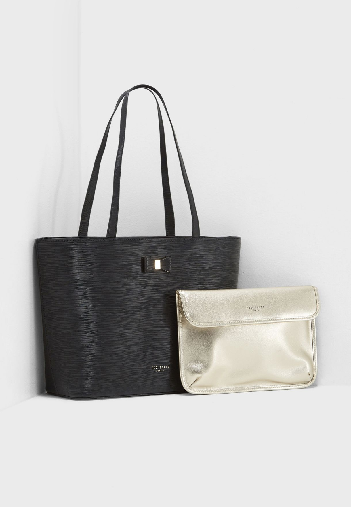 f2194af55 Shop Ted baker black Deanie Bow Detail Small Leather Shopper 147438 for  Women in UAE - TE456AC86JSN