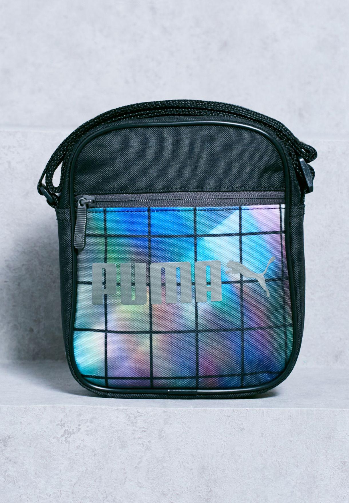 fc621ffa7f Shop PUMA black Campus Portable Messenger 07454101 for Men in Qatar -  PU020AC86WBD