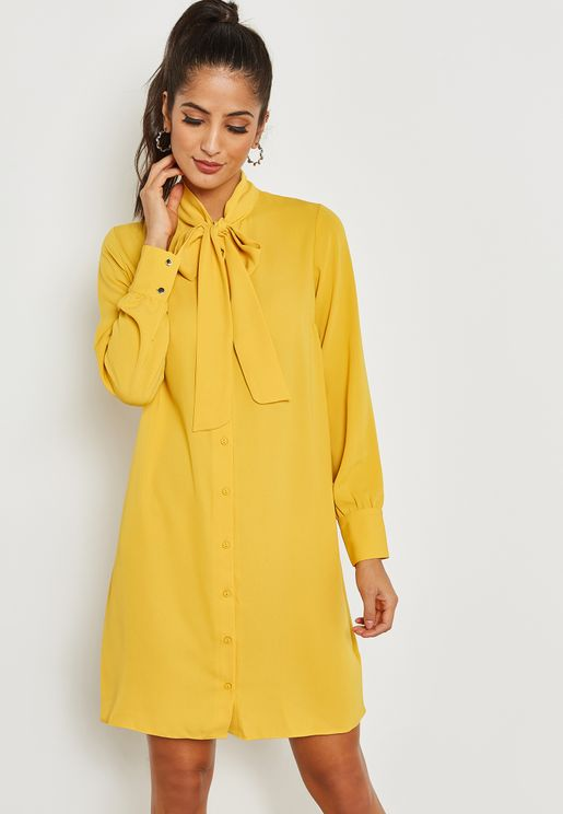 Bow Shirt Dress