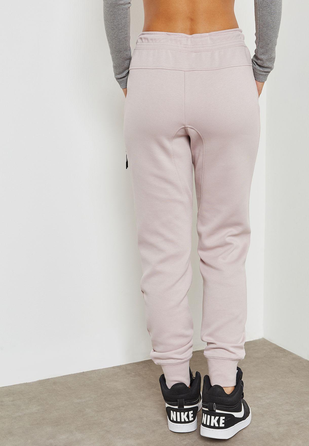 cd7dfc198fcd Shop Nike pink Tech Fleece Sweatpants 683800-684 for Women in UAE ...