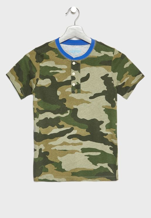 Teen Camo Print T-Shirt