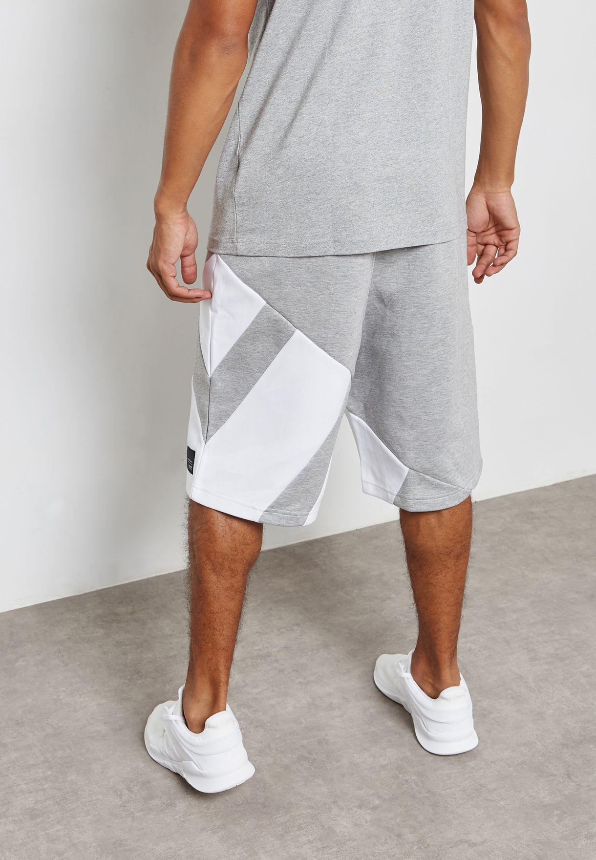 099e1b5bc837 Shop adidas Originals grey EQT PDX Shorts BS2813 for Men in UAE ...